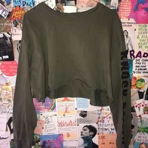 """""""knock down"""" cropped long-sleeve"""